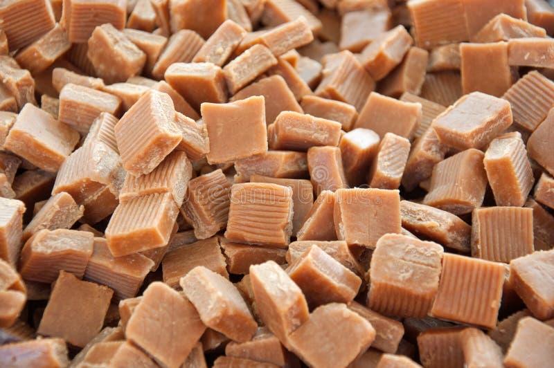 Quadrados do caramelo do caramelo fotografia de stock