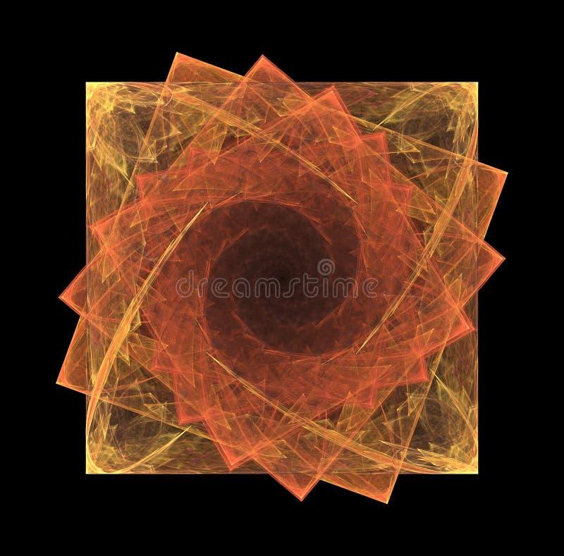 Quadrados do Fractal na espiral ilustração royalty free