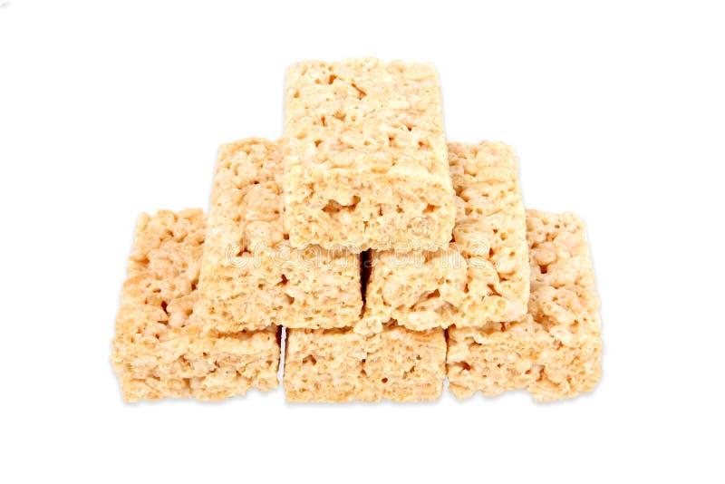 Quadrados do Marshmallow fotografia de stock