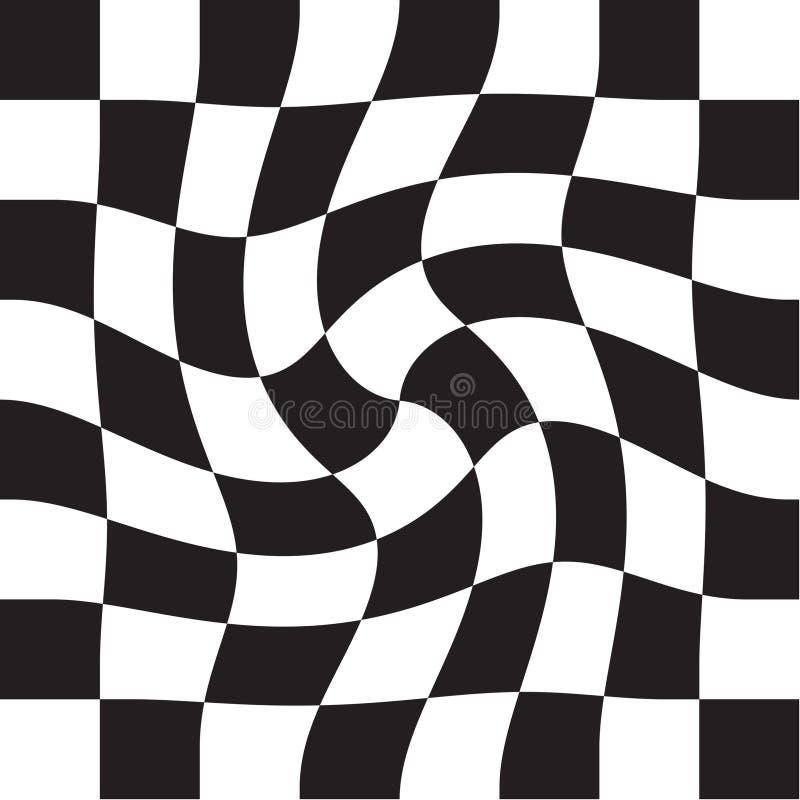 Quadrados do verificador da xadrez ilustração stock
