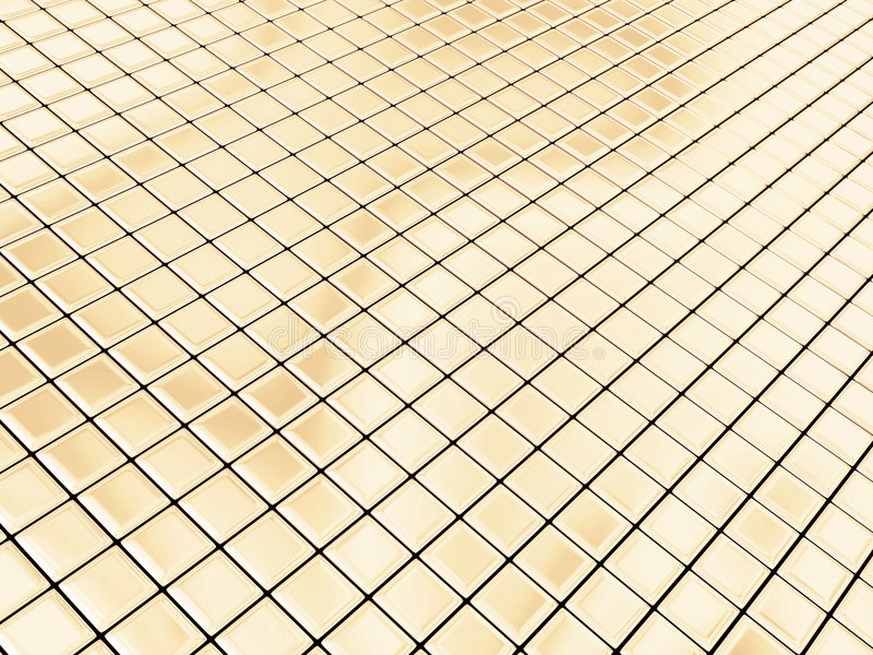 Quadrados dourados ilustração do vetor
