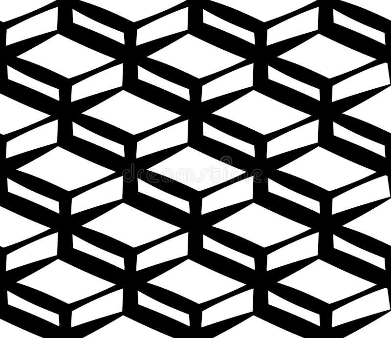 Quadrados inclinados, retângulos com um padrão uniforme reproduzível e estanque ilustração stock