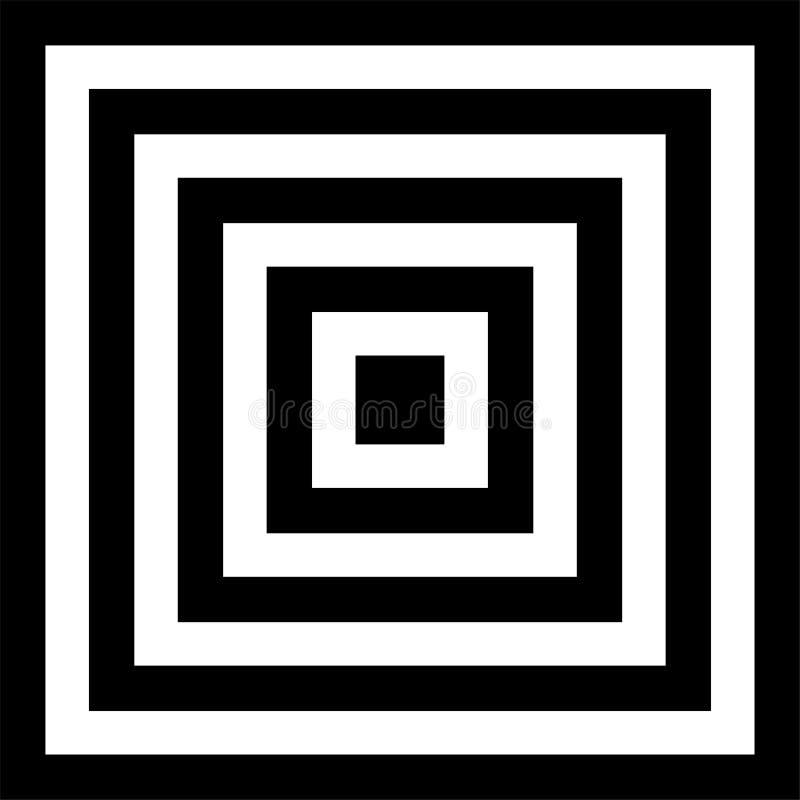 Quadrados preto e branco ilustração do vetor