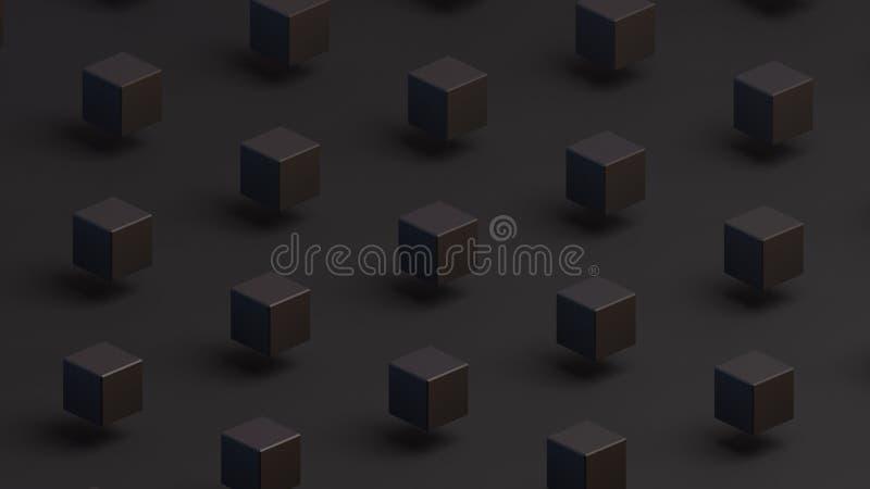 quadrados pretos em um fundo preto foto de stock royalty free
