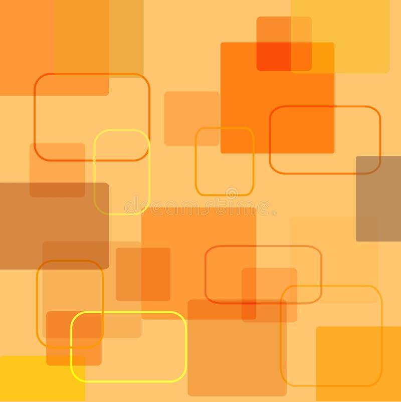 Quadrados retros ilustração stock