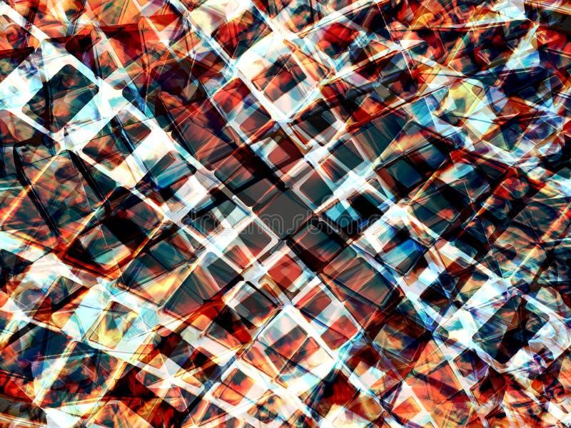 Quadrados sparkling abstratos ilustração stock