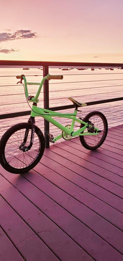 Quadrangle bmx bike from ski run marina tahoe. Quadrangle bmx bike from ski run marina stock images