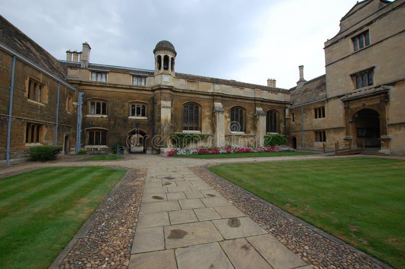 Quadrangle at Caius Gonville Cambridge. College quadrangle at Gonville and Caius college Cambridge stock photo
