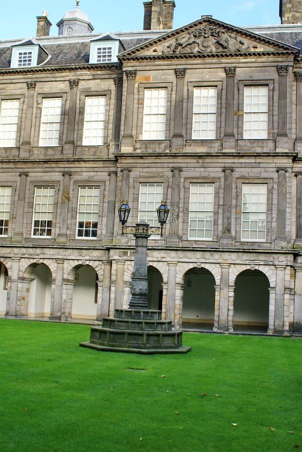 Quadrangle in the Holyrood Palace in Edinburgh, Scotland. Quadrangle at the Palace at Holyroodhouse at the end of the Royal Mile in Edinburgh, Scotland stock photos