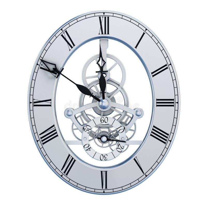 Quadrante di ore dei meccanismi illustrazione vettoriale