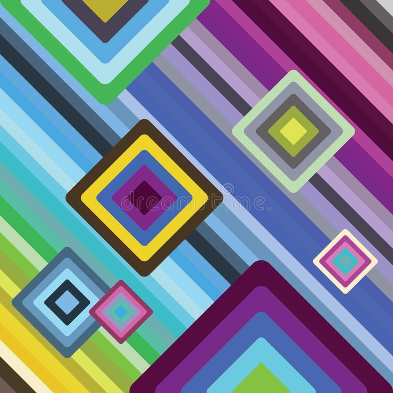 Download Quadrat stock vector. Image of pattern, abstract, funky - 9990415