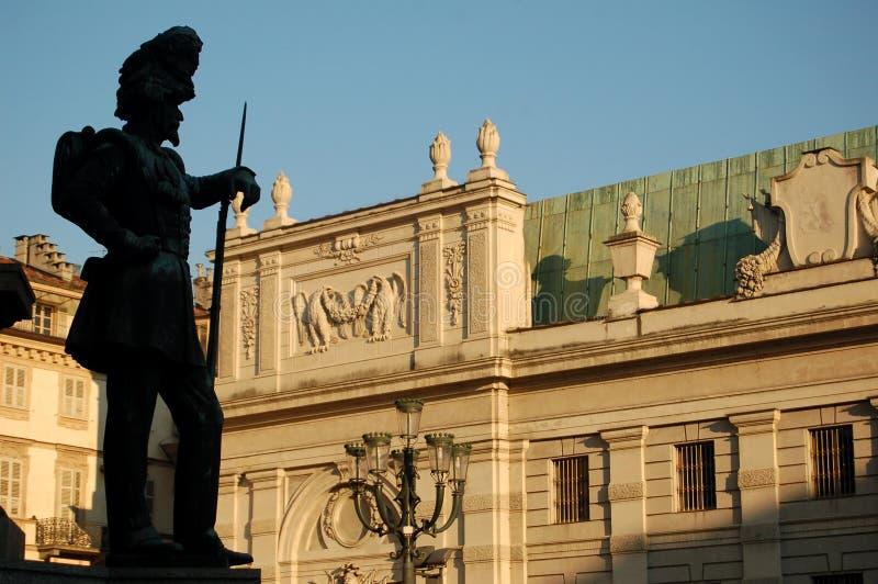 Quadrat Carlo-Alberto, Turin lizenzfreies stockfoto