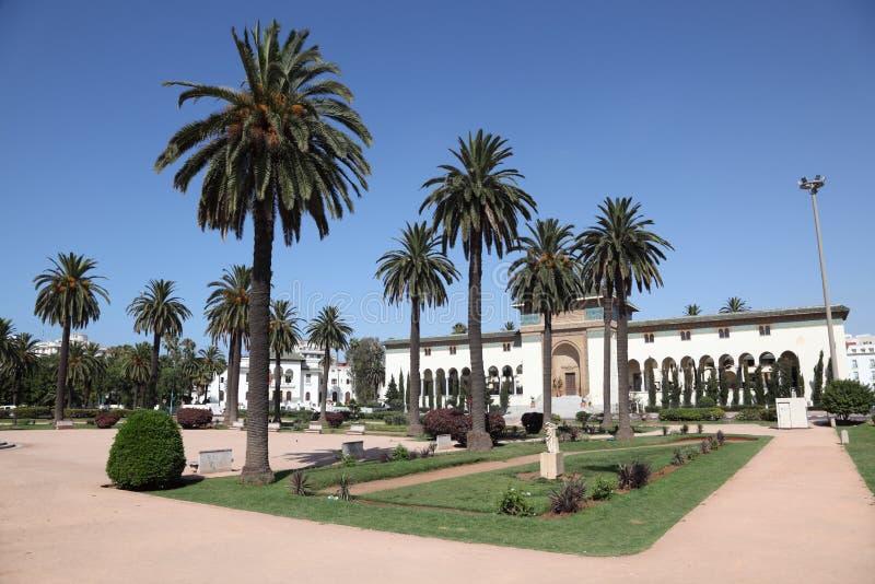 Quadrat in Casablanca, Marokko stockbilder
