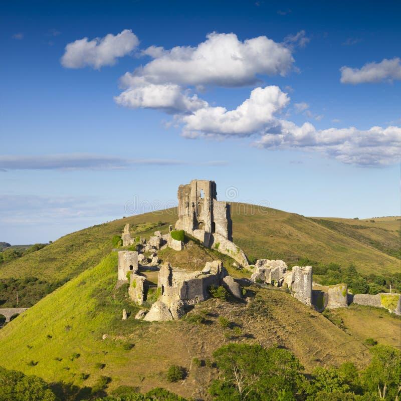 Quadrat Corfe-Schloss-Dorsets England lizenzfreies stockbild