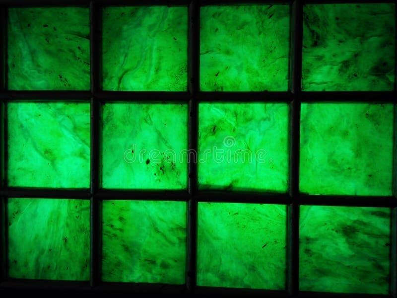 Quadrat des grünen Glases stockfotografie
