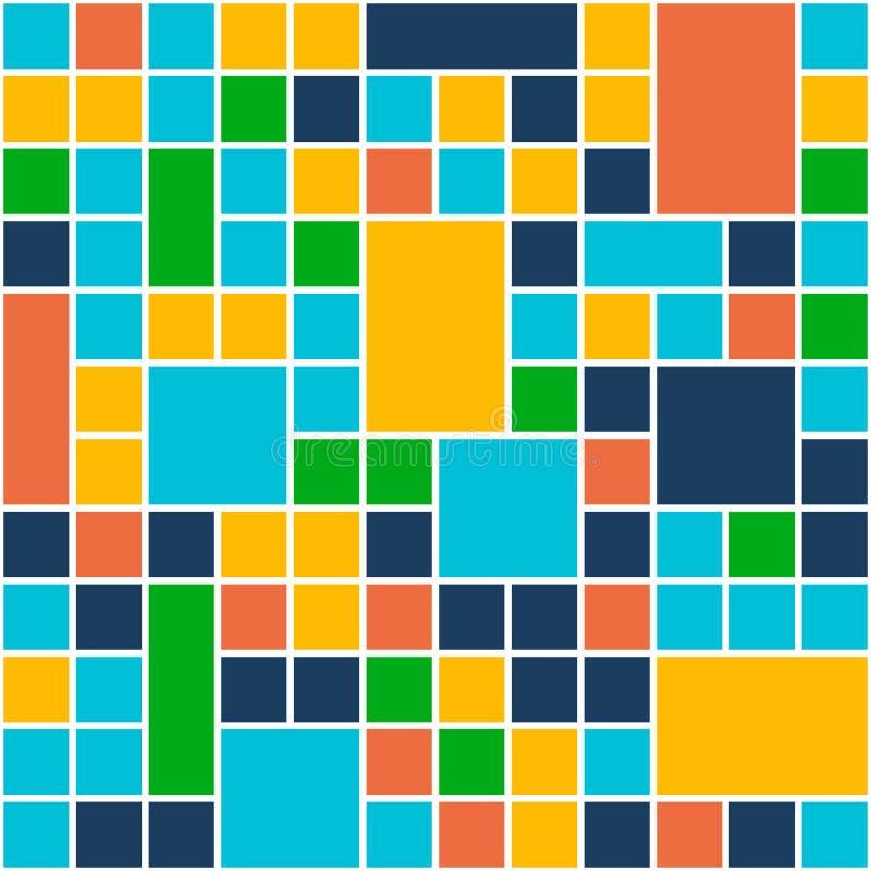 Quadrat-Farbhintergrund Schablonen-flache Design-Art Vektor stock abbildung