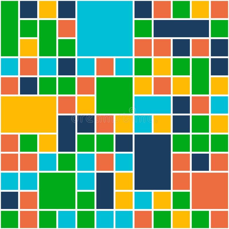 Quadrat-Farbhintergrund Schablonen-flache Design-Art Vektor lizenzfreie abbildung