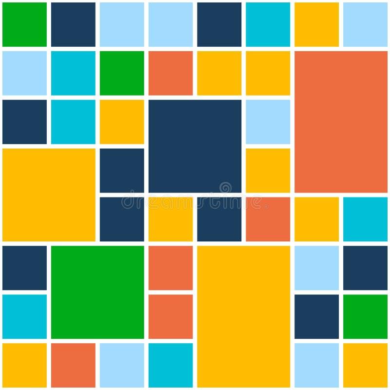 Quadrat-Farbhintergrund Vektor-Schablone für Ebene stock abbildung