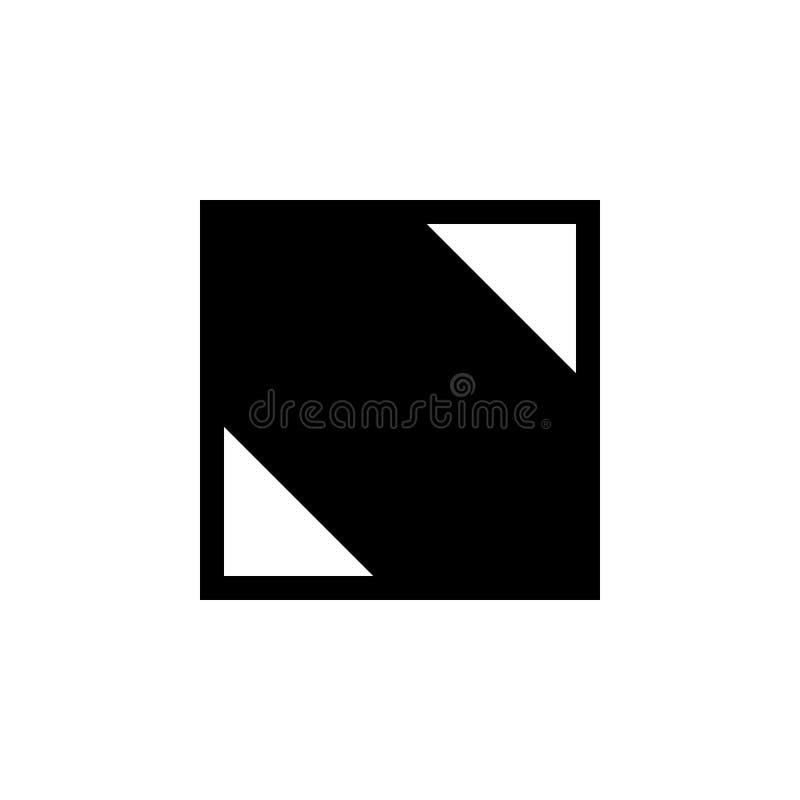 Quadrat mit Eckenikone Element der Netzikone für bewegliche Konzept und Netz apps Lokalisiertes Quadrat mit Eckenikone kann für w stock abbildung