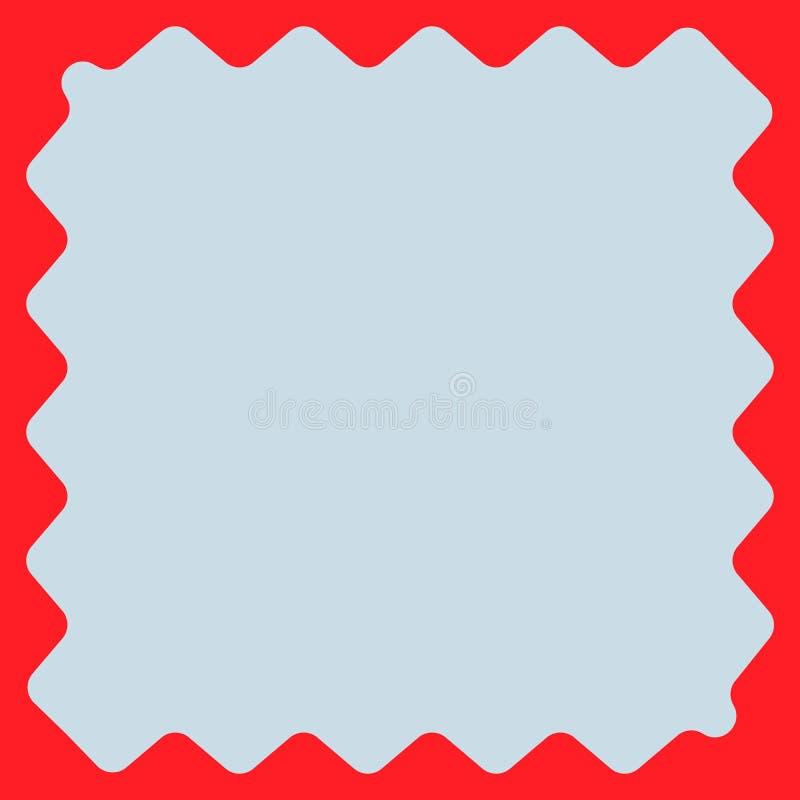 Quadrat Mit Wogenden Rändern Verzerrter, Verformter Quadratischer ...