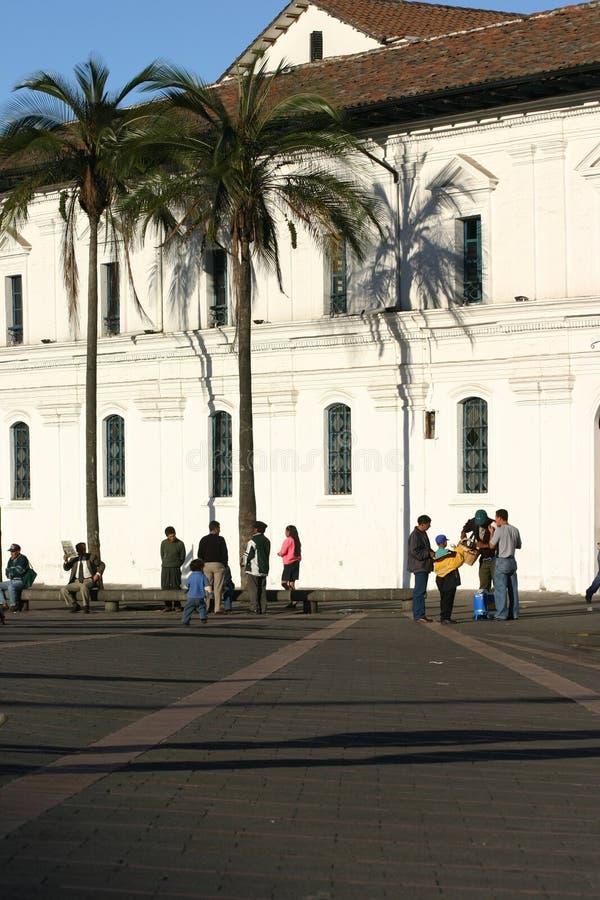 Quadrat in Quito stockfoto
