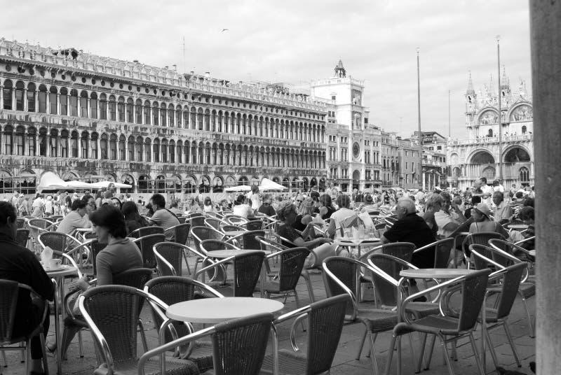 Quadrat San-Marco in Venedig stockbilder