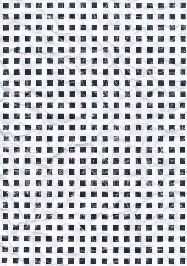 Quadrat scannte das Muster, das zerknittert wurden oder den gescannten zerknitterten Hintergrund vektor abbildung
