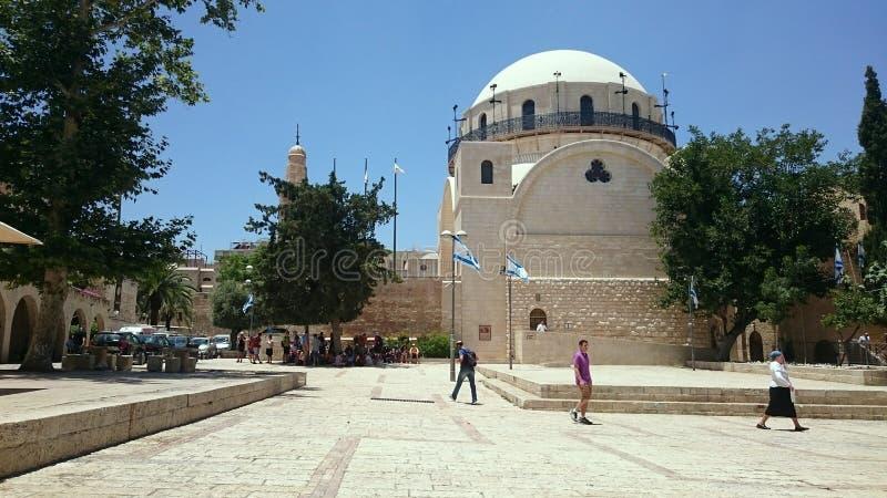 Quadrat und Synagoge Hurva in Jerusalem stockfotos