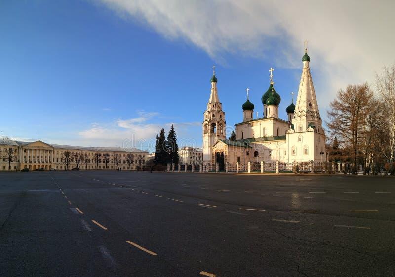 Quadrat Yaroslavl Sovietskaya lizenzfreie stockfotografie