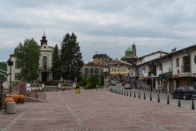 Quadrat Zar Asen I, alte Stadt Veliko Tarnovo, Bulgarien lizenzfreie stockbilder