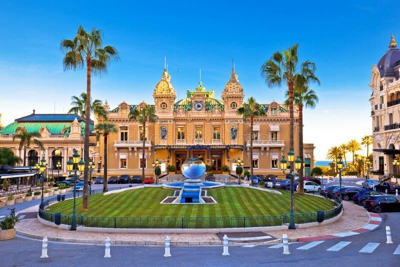 Quadratansicht Monte Carlo Places du Casino stockfoto