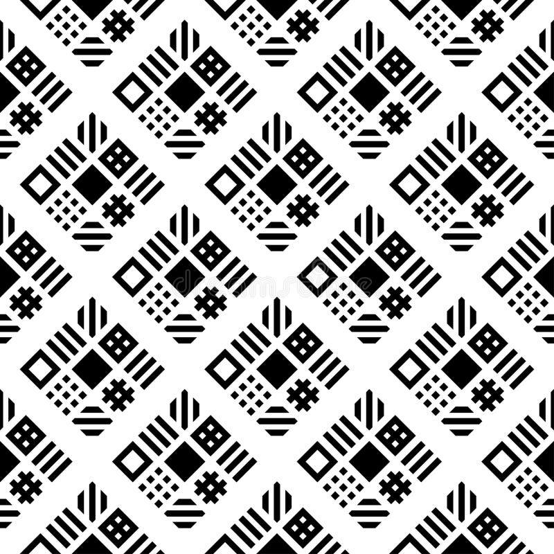Quadrate kopieren geometrischen nahtlosen Hintergrundvektor lizenzfreie abbildung