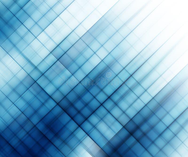 Quadrati blu astratti illustrazione di stock