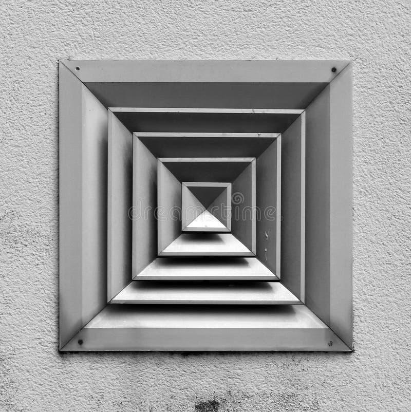 Quadrati concentrici fotografia stock