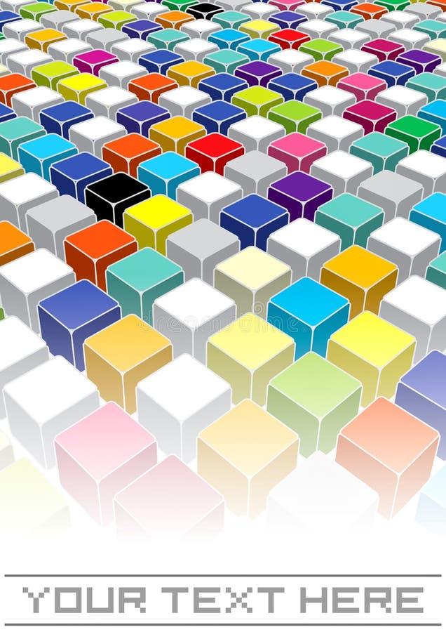 Quadrati di colore royalty illustrazione gratis