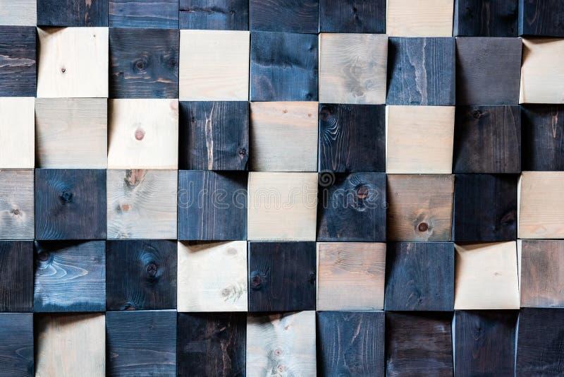 Quadrati di legno astratti fotografia stock libera da diritti