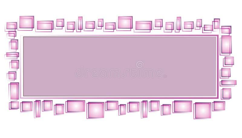 Pagina Web Logo Purple Squares immagine stock