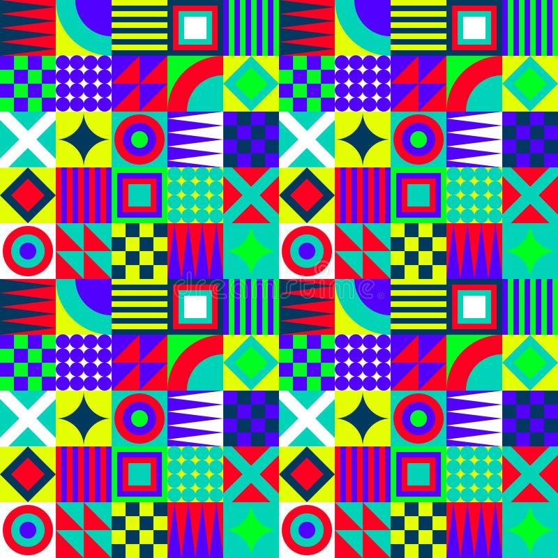 Quadrati geometrici pazzi royalty illustrazione gratis