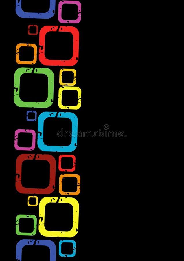 Quadrati luminosi illustrazione di stock