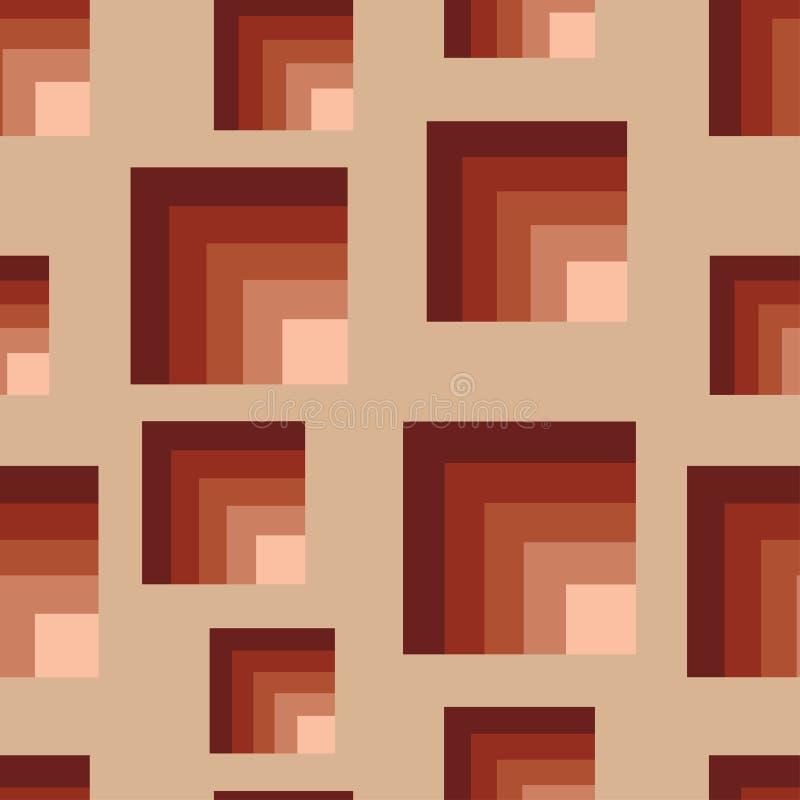 Quadrati marroni senza giunte royalty illustrazione gratis
