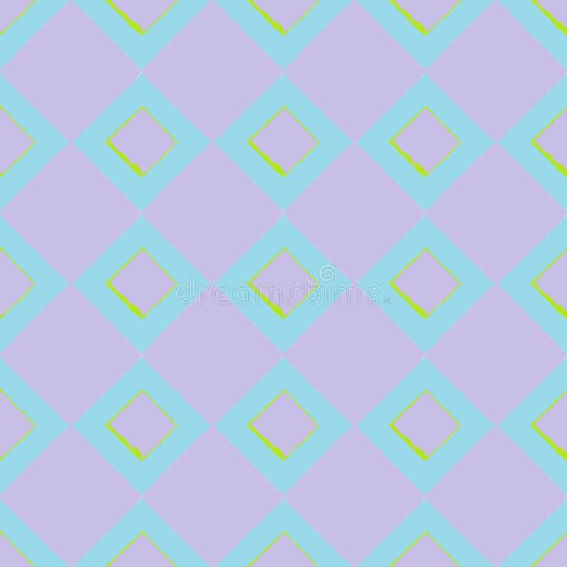 Quadrati porpora su fondo blu-chiaro in una composizione senza cuciture immagini stock