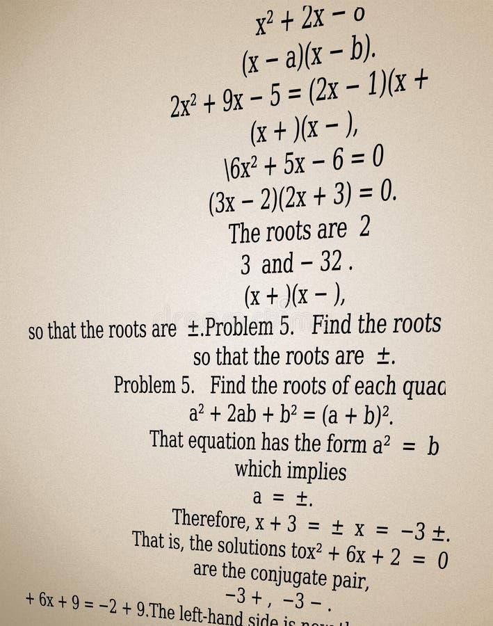 Download Quadratic equation stock illustration. Illustration of quadratic - 25982821