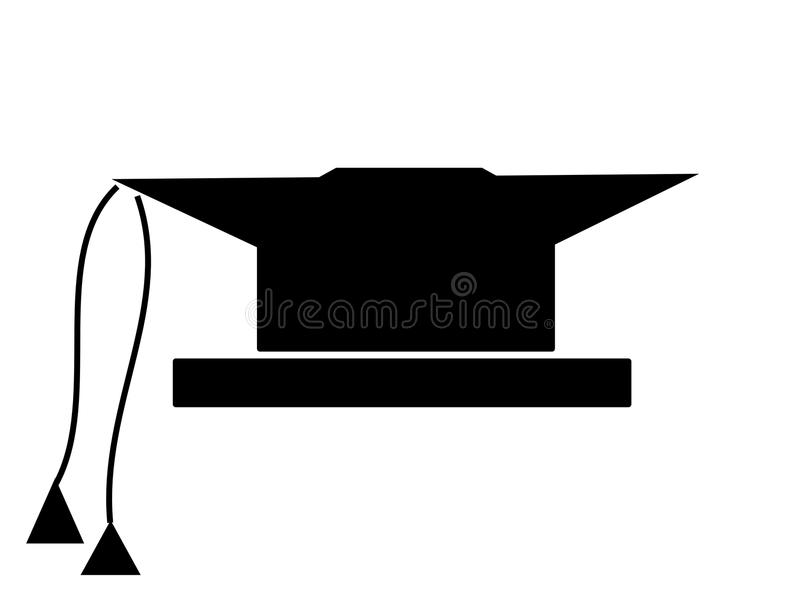 Quadratische akademische Schutzkappe lizenzfreie abbildung