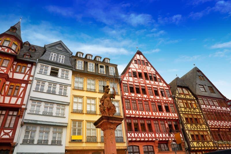 Quadratische alte Stadt Deutschland Frankfurts Romerberg lizenzfreies stockbild