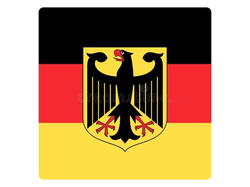 Quadratische Flagge von Deutschland lizenzfreie abbildung
