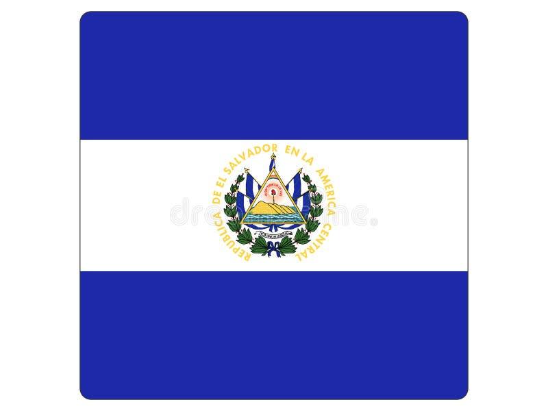 Quadratische Flagge von El Salvador stock abbildung