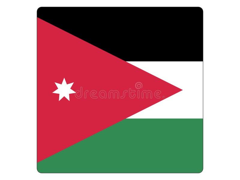 Quadratische Flagge von Jordanien vektor abbildung