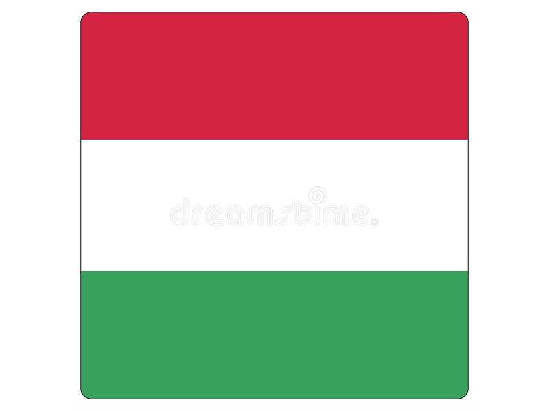 Quadratische Flagge von Ungarn stock abbildung