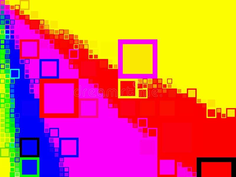 Quadratische Hintergründe stock abbildung
