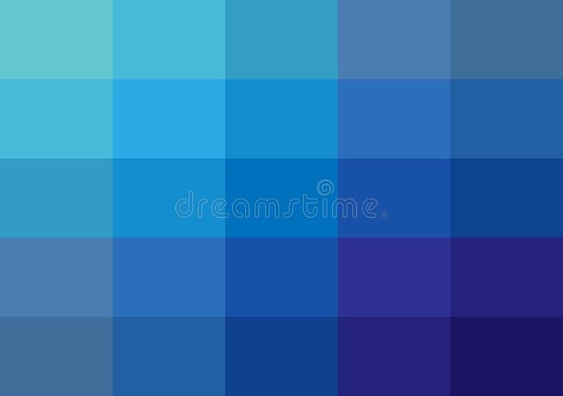 Quadratische Hintergründe der abstrakten blauen Pixel entwerfen die Unschärfe, die vom Blau gefärbt wird lizenzfreie abbildung